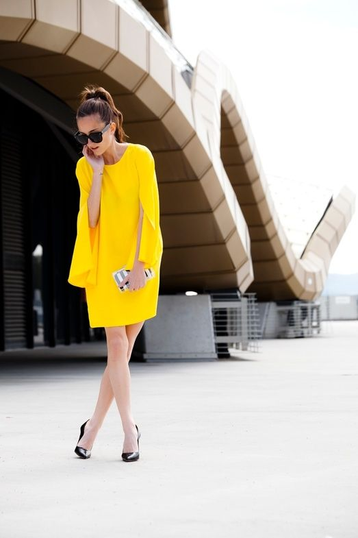 Pop of yellow #zara #celine #spring