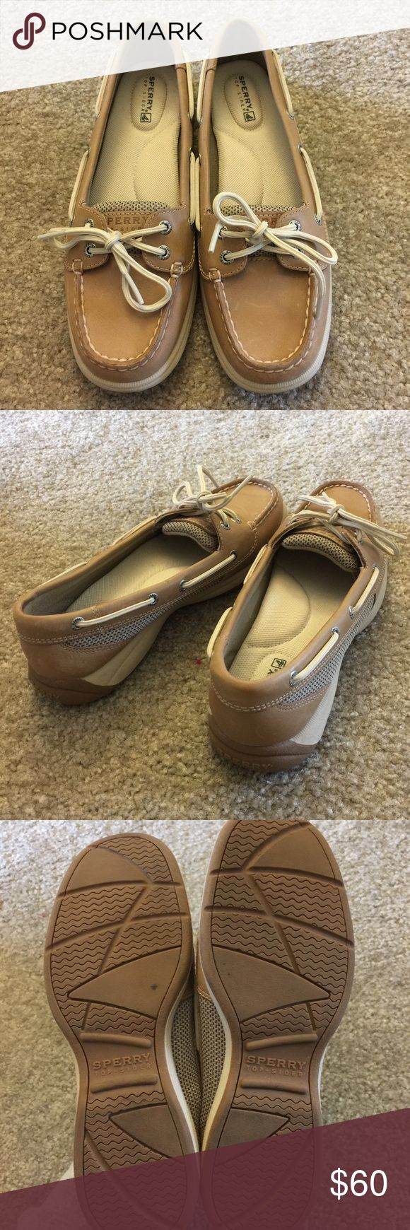 Sperry angelfish style boat shoes, like new! Cute Sperry brand angelfish style boat shoes, women's style. Only been worn once otherwise brand new, great condition! Sperry Shoes Flats & Loafers