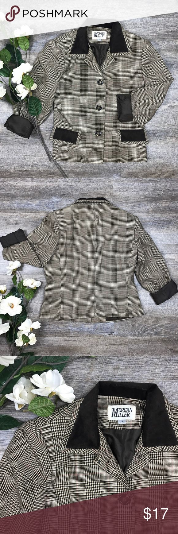 Morgan Miller Blazer Adorable Morgan Miller blazer! In good condition. 65% polyester, 35% Rayon. Size 10. See images for measurements. F-19 Morgan Miller Jackets & Coats Blazers