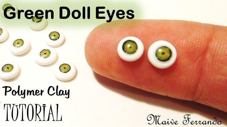 Miniature Polymer Clay Green Doll Eye Cane Tutorial | Maive Ferrando