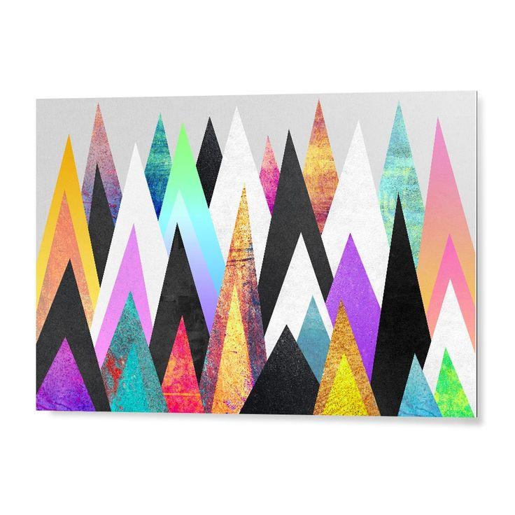 """""""Colorful Peaks"""". Tableau Design Numéroté by Elisabeth Fredriksson- A partir de 49 € - www.chall.fr #contemporain"""