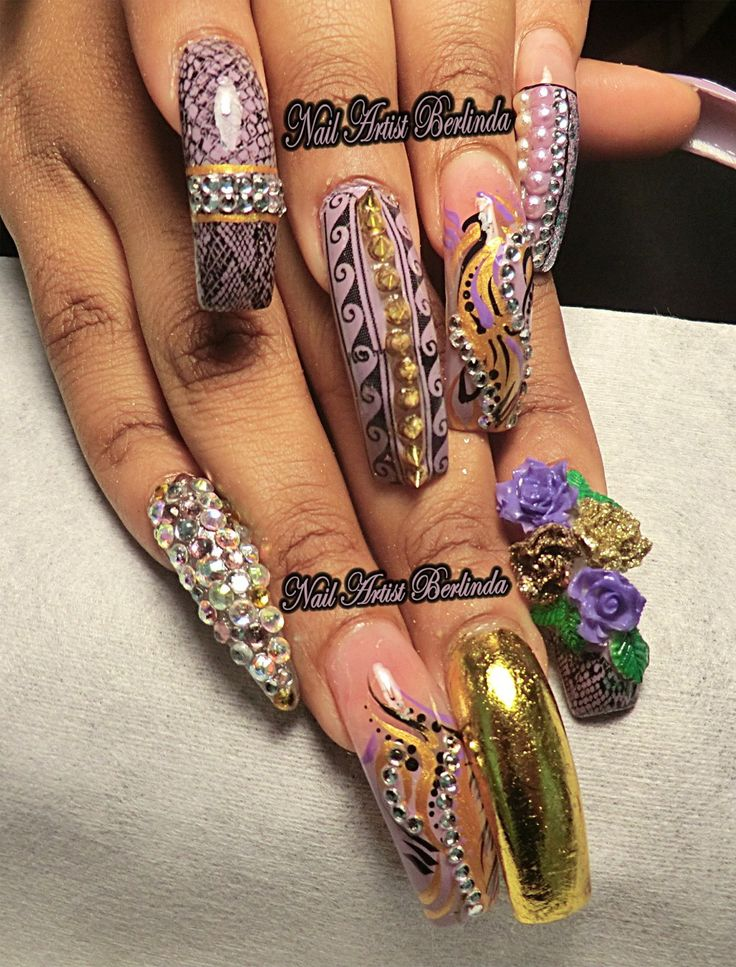 84 best Extravagant Nail Art images on Pinterest | Nail artist ...