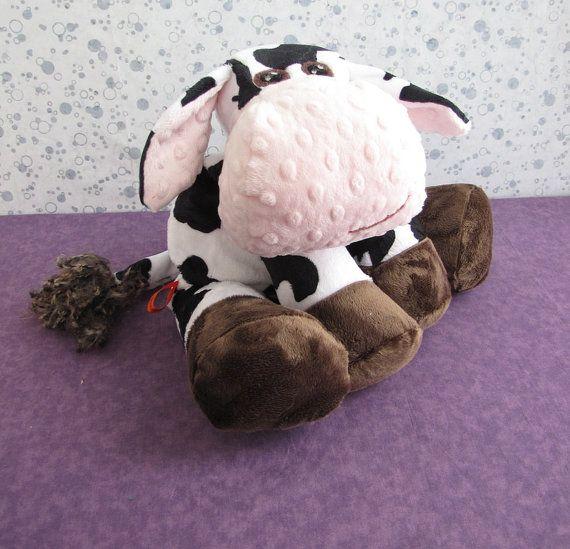 Cow STUFFED ANIMAL Sewing Pattern by WarmFuzziesByGen on Etsy, $9.00