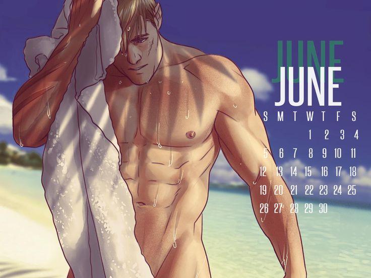 APH 2P Germany Lutz Beilschmidt June Calendar by ask-p2-germany.tumblr.com