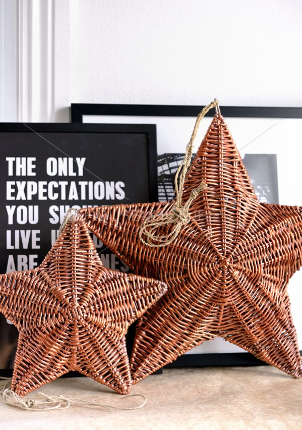 ❤️.#basket#wicker basket#decor#creative#star basket#home decor