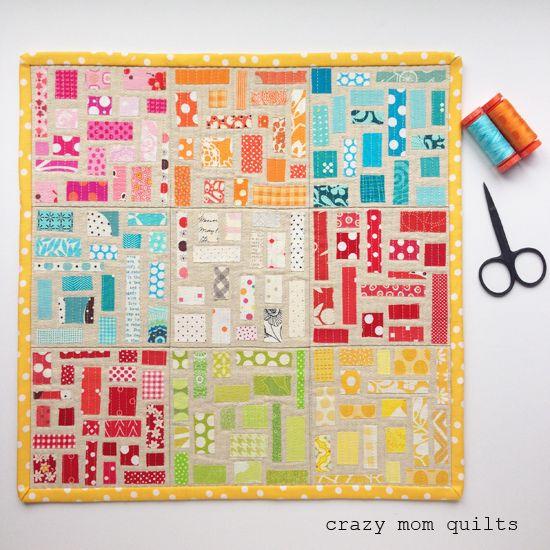 131 :: ticker tape tiles mini quilt