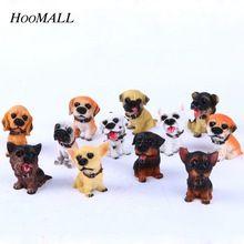 Moda 12 PCs Bonito Artesanato Resina Miniaturas Cães Bonitos Do Jardim de Fadas Micro Paisagem Decoração Nonsai Para Presentes de Decoração Para Casa(China (Mainland))