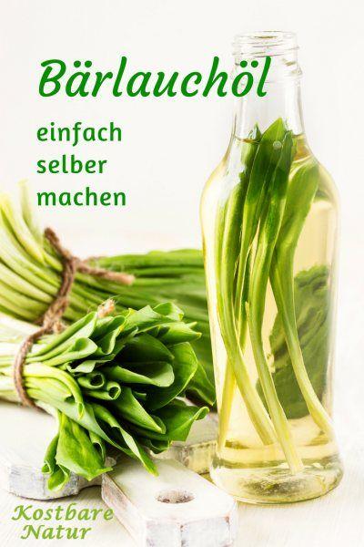 Mit selbstgemachtem Bärlauchöl kannst du die Bärenkräfte bewahren und im Laufe des Jahres z.B. für Salate verwenden.
