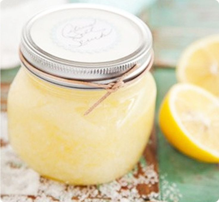 DIY Lemon Salt Scrub - great DIY Christmas gift idea... I have