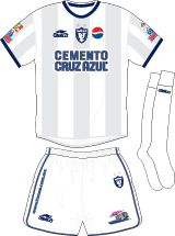 CF Pachuca of Mexico away kit for 2002-03.