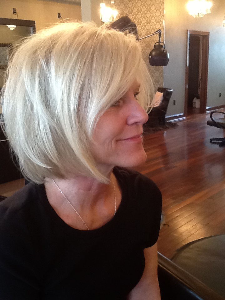 Layered Bob with soft bang. | Hair | Pinterest | Layered