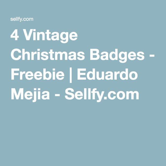4 Vintage Christmas Badges - Freebie | Eduardo Mejia - Sellfy.com