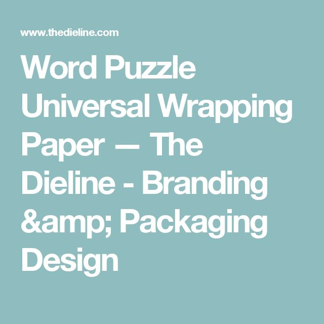 Word Puzzle Universal Wrapping Paper — The Dieline - Branding & Packaging Design