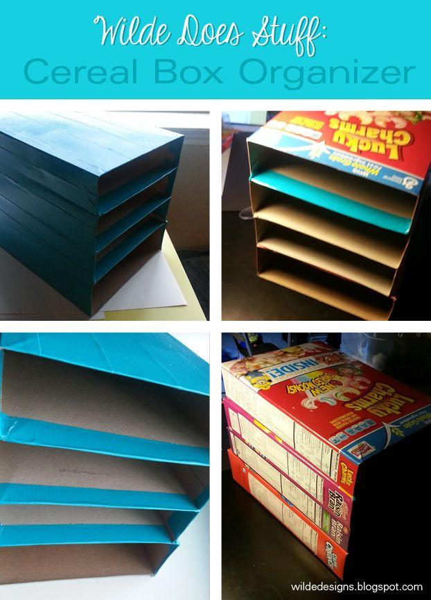 25 unique cereal box organizer ideas on pinterest desk for Diy cereal box