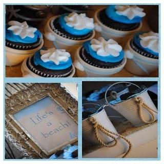 mini cupcakes in mini flower pots