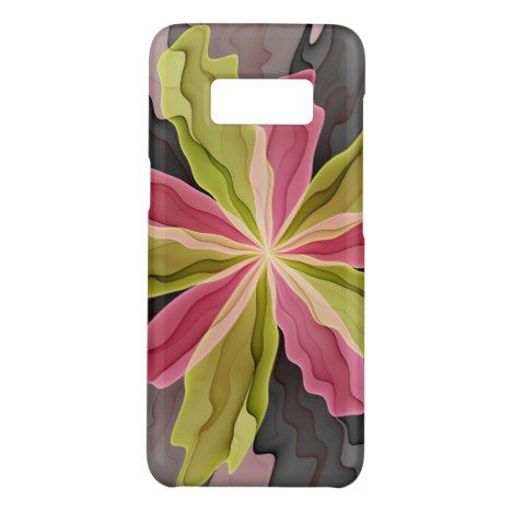 Joy Pink Green Anthracite Fantasy Flower Fractal Case-Mate Samsung Galaxy S8 Case