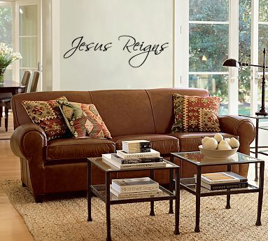 Jesus Reigns Wall Decal