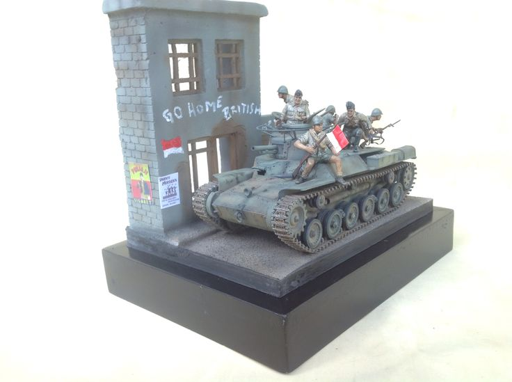 1/35 scale Indonesia TKR/BKR w/ Chi Ha japanese tank Surabaya 1945, by ademodelart