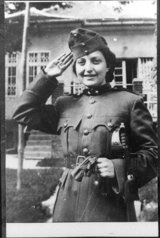 Hannah Szenes (1921 – 1944) was a Hungarian Jew, one of 37 Jews from the British Mandate for Palestine (now Israel) that were trained by the British to parachute into Yugoslavia during WWII to help save Jews in Hungary who were about to be deported to Auschwitz. She was arrested at the Hungarian border, imprisoned and tortured, but she refused to reveal details of her mission. She was tried & executed by firing squad. She is regarded as a national heroine in Israel.