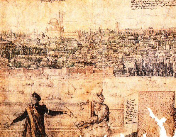 Melchior Lorck - The Prospect of #Constantinople (16th century)  #Istanbul #History #renaissance