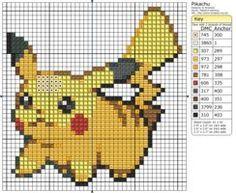Pikachu de punto de cruz.