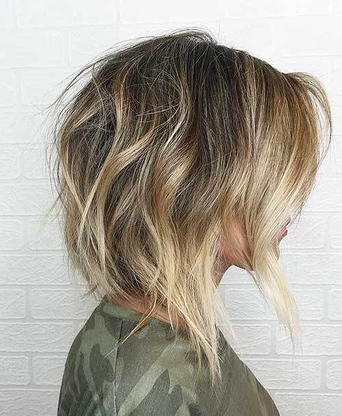 20 Latest Short Choppy Haircuts for Textured Style: #19- Textured Bob with Thick Hair