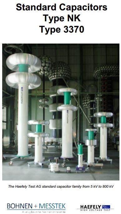 Capacitor padrão Tipo NK 3370 #Solução #Energia  O capacitor padrão é usado em conjunto com um C e tan delta medindo ponte (por exemplo, Tettex 2877) como um padrão de comparação para medidas exatas da capacidade e tan d de equipamentos HV como cabos, transformadores, buchas, capacitores , etc. http://bohnen.com.br/Produtos/306/NK.pdf