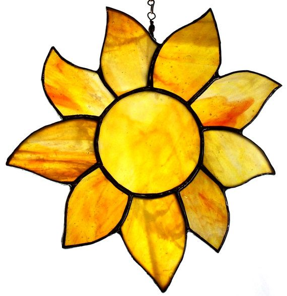 Sunshine Stained Glass Yellow Orange by CLStainedGlassStudio, $25.00 pcfteam