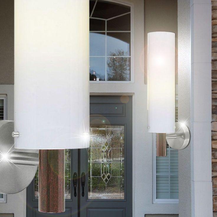 7W LED Außen Wand Lampe Leuchte Antik braun Beleuchtung  Haustür Hof EGLO DODO