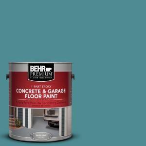 BEHR Premium 1 Gal. #PFC 49 Heritage Teal 1 Part Epoxy Concrete And Garage Floor  Paint