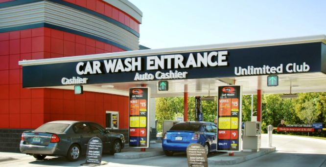 how to drive through automatic car wash