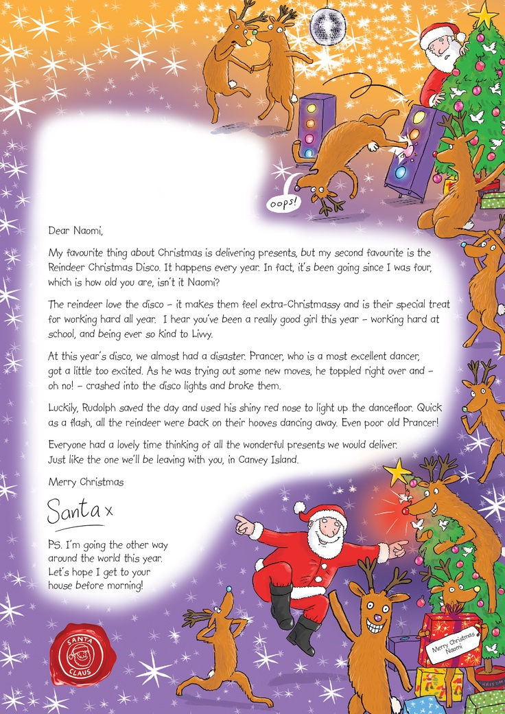 Best Nspcc Letter From Santa Images On   Letter From