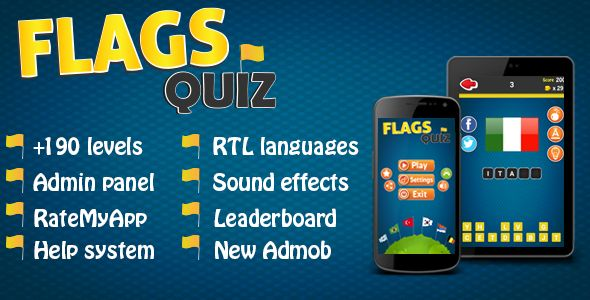 Flags Quiz - Android Game + Admin Panel