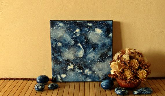 Space painting universe painting space gifts by TheLuckyStones