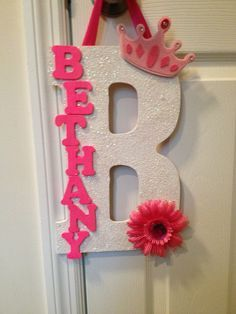 Custom letter decor