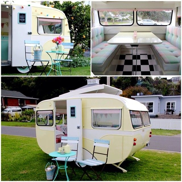 Renovated Retro Caravan | Polli... how cute is this? It would make such a great creative work space.