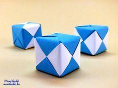 Papír kocka hajtogatás - Manó kuckó