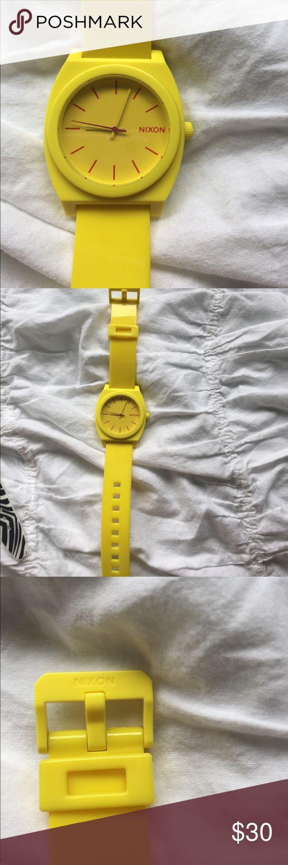Yellow Nixon Watch Beautiful yellow Nixon watch! Perfect condition. Barely worn. Bright yellow color. Nixon Accessories Watches