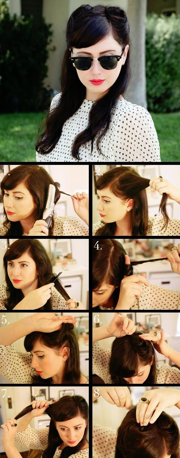 How to do the victory roll hair style | Hairstyles and Beauty Tips