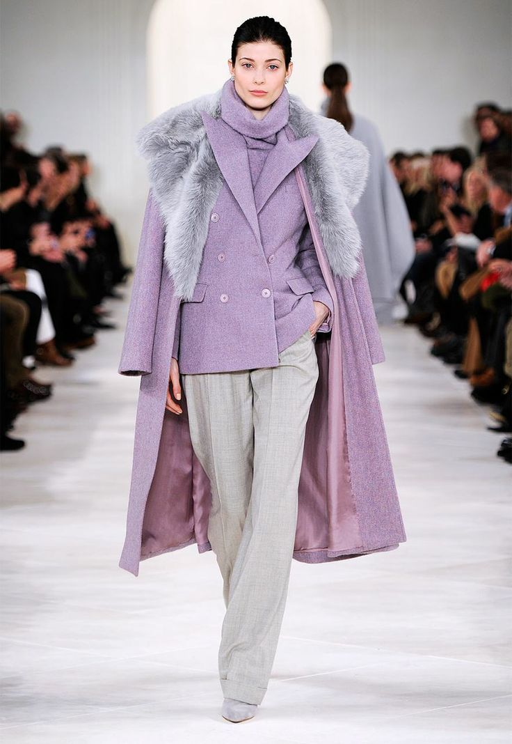 Sophisticated ease on the runway of the Ralph Lauren Fall Collection 2014