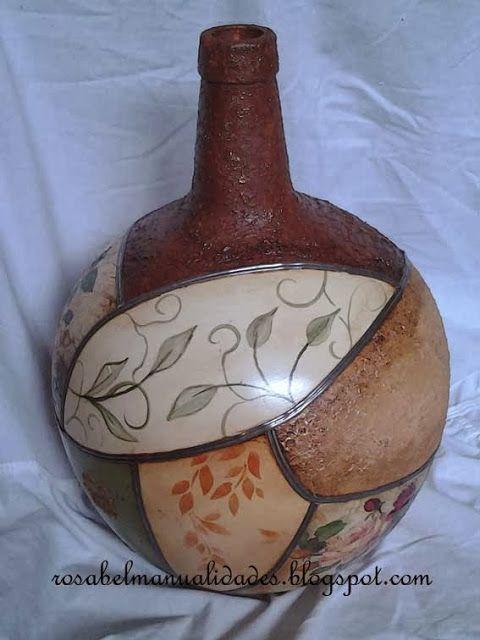 Rosabel manualidades: Garrafón decorado