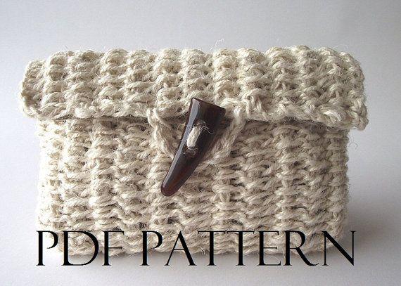 CROCHET PATTERN Purse Bag Pouch Bag Crochet by LiliaCraftParty  #knitbag #crochet