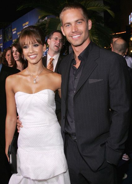 Jessica Alba and actor Paul Walker attend the premiere of Sony Pictures 'Into the Blue' at the Mann Village Theatre on September 21, 2005 in Westwood, California. Paul Walker was linked to Jessica Alba. They met while filming their movie Into the Blue