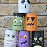 Halloween Tin Can Bowling Craft