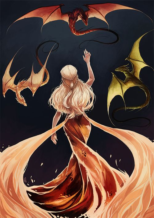 With fire and blood by larkles