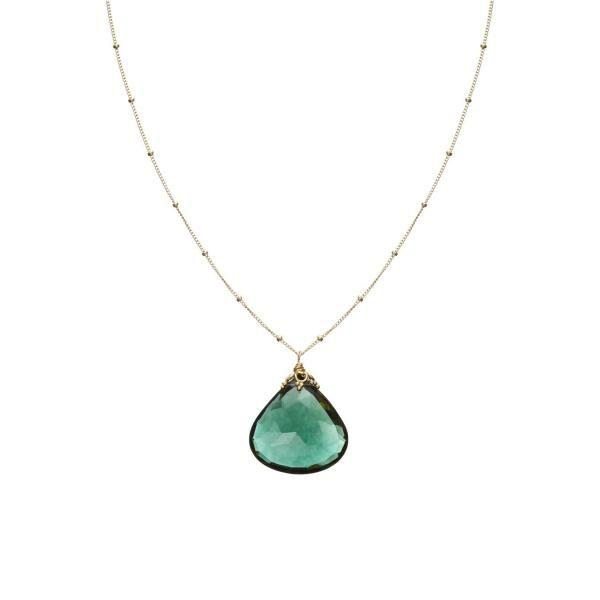 Evergreen Quartz Single Stone Necklace Large | Nikki Baker