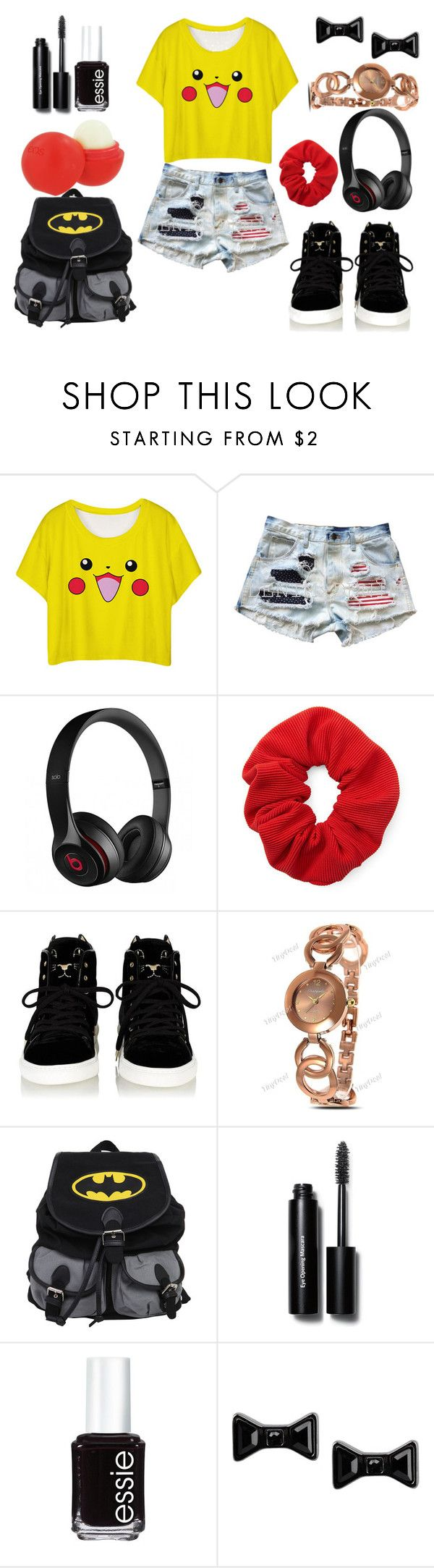 """""""calor españa *7"""" by florchipaez ❤ liked on Polyvore featuring Beats by Dr. Dre, Forever 21, Eos, Bobbi Brown Cosmetics, Essie, Marc by Marc Jacobs, women's clothing, women, female and woman"""
