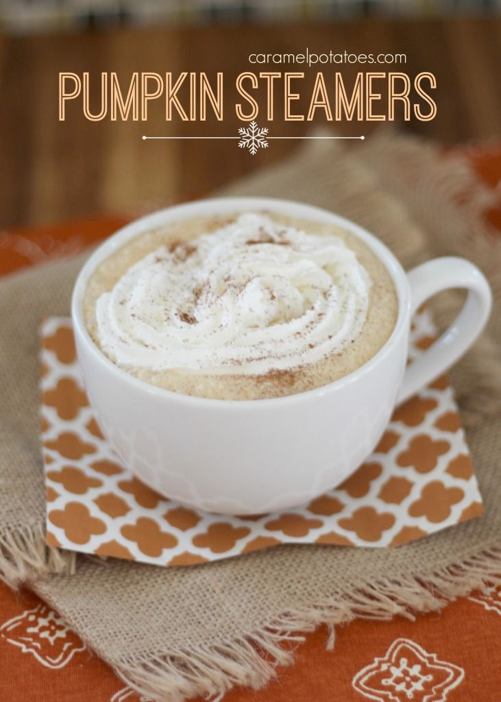 Pumpkin Steamers- perfect on a cold holiday morning!!