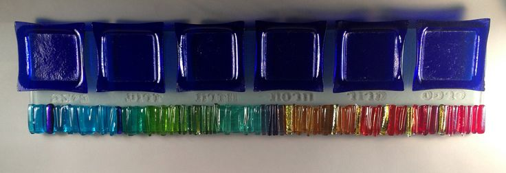 Rainbow Icicle Seder Plate by Alicia Kelemen (Art Glass Seder Plate) | Artful Home