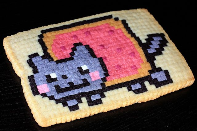 Nyan Cat Pixel Cookie